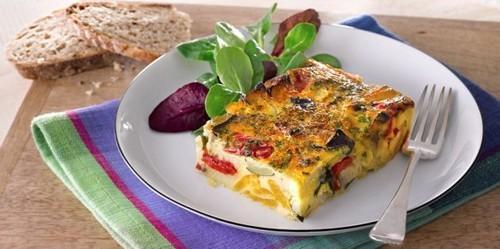 Как приготовить яйца в духовке: Фриттата c запечёнными овощами