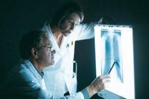 Снимок рентгена грудного отдела