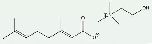 Рис.5. Слева— герановая кислота, справа— холин