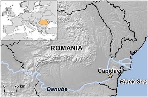 Рис.2. Положение крепости Капидава на карте современной Румынии