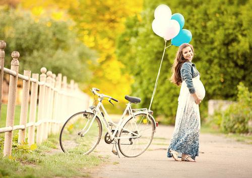 Езда на велосипеде, беременным