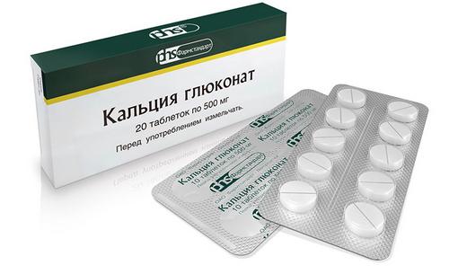 Кальций глюконат в форме таблеток
